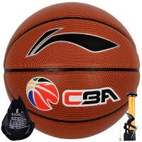 李宁 LI-NING PU材CBA职业联赛比赛篮球成人儿童室内外7号 蓝球 587-1