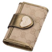 钥匙包女欧美时尚钱包帆布钥匙包女士钱夹女式小钱包