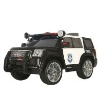 rollplay儿童电动车四轮双驱遥控警车可坐人玩具宝宝童车