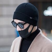 帽子男女冬天时尚韩版百搭潮情侣毛线帽羊毛针织帽保暖护耳包头套头帽