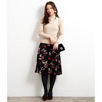 Q351特日单甜美品牌新下客供花柄面料优雅半裙摆裙