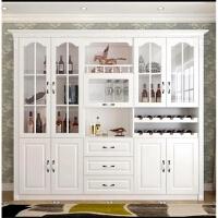 实木欧式餐厅酒柜带鞋柜客厅装饰柜简约现代单面靠墙餐边柜隔断柜 6门以上