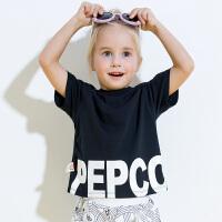 【99元3件】小猪班纳童装女童2019年夏季新款儿童T恤潮