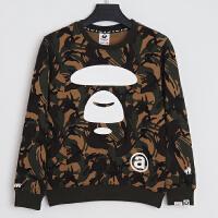 Aape猿人头特价圆领套头军绿迷彩卫衣AAPSWW8803XX7