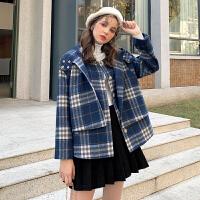 MG小象套装两件套女2019新款洋气减龄时尚马甲小个子冬季毛呢外套