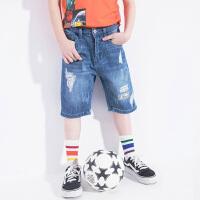【2件5.5折到手价:87】小猪班纳童装男童牛仔裤中大童短裤2019夏装新款儿童五分裤子