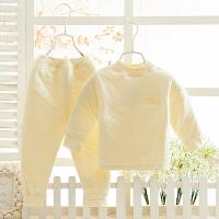儿童秋冬保暖内衣套装婴儿加厚内衣男童全棉睡衣女童纯全棉