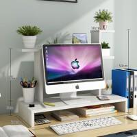 电脑显示器办公台式桌面增高架子底座支架桌上键盘收纳垫高置物架家居日用收纳用品收纳架