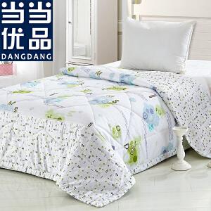 当当优品 全棉印花可水洗夏凉被 空调被 字母恋情(绿) 150*200