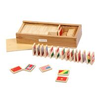 装早教玩具蒙台梭利感官教育益智教具各国卡片
