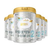 [当当自营]alula爱羽乐2段较大婴儿配方奶粉( 6-12个月)900g*6听整箱装