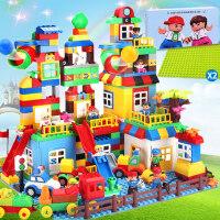 兼容积木玩具拼装大颗粒1-2-4女孩3-6周岁男孩子儿童益智城市