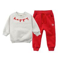 新年服装 儿童春装套装两件套抓绒卫衣童装宝宝运动秋装女童男