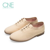 CNE2019春夏款帆布鞋时尚圆头纯色绑带低跟舒适女单鞋9M28302