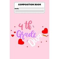 【预订】Composition Book 4th Grade Diva: Composition Notebook Fo