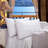 助睡眠枕头一对超柔软枕希尔顿五星级酒店高中低枕芯一对zhentou