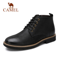 camel骆驼男鞋 秋冬新款潮流时尚马丁靴皮质高帮靴子男靴