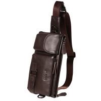 牛皮腰包男户外运动跑步手机包小挎包单肩包大容量胸包腰带包钱包