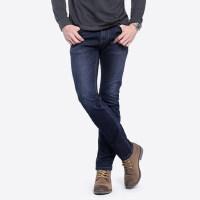 骆驼男装 秋季新款青年休闲水洗牛仔裤微弹中腰直筒长裤子男