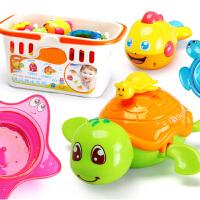 儿童洗澡玩具婴儿游泳洗水小乌龟宝宝沐浴喷水叠叠乐玩具