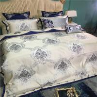 【官方旗舰店】欧美式床上用品多件套 高档奢华十件套 别墅样板间床品四六八件套 旋律心情