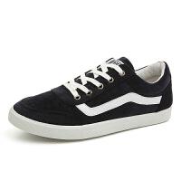 1790P25蓝色系带学生休闲裤鞋男布鞋懒人跑步鞋男士帆布鞋