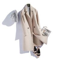 呢子大衣女中长款毛呢外套女2018秋季新款韩版双面呢无羊绒大衣