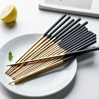 光一不锈钢筷子304家用防滑一人一色吃饭的筷子网红餐具ins个性创意