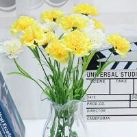 仿真花卉康乃馨 植物花卉鲜花插花摆件 家居装饰摆件鲜花Q 12支花-不配花瓶是花的价格哦