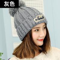 帽子女秋冬天毛线帽时尚韩版潮百搭韩版护耳加厚保暖针织帽贝雷帽