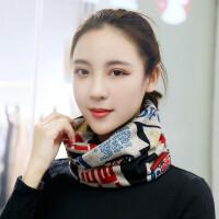 韩版学生加厚款针织套头围巾护颈椎脖套面罩包头帽围脖女冬季