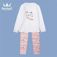 【双十二狂欢】水孩儿souhait2018秋装新款女童套装/家居服AMQ0645569