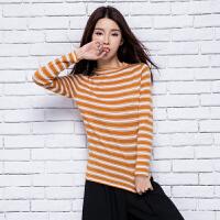 2018春季新款女士半高领纯山羊绒衫修身短款针织套头毛衣打底衫