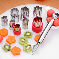 西瓜挖球器蔬菜水果切模具��意水果拼�P工具套�b�干食物造型模具