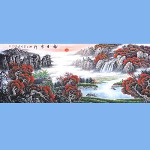 中国青年美术家协会常务理事,中国山水画院专业画家,国家一级美术师高云鹏(福日东升)