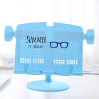 铭强 8814书架蓝色夏天来了塑料多功能桌面护眼阅读架平板电脑架书画架乐谱架矫正坐姿看书架乐谱架大中小学生男女生儿童办