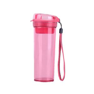 特百惠水杯 晶彩400ml随手杯子塑料便携防漏创意学生男女时尚茶杯火烈红