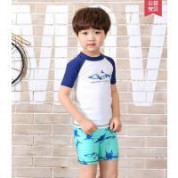 男宝分体泳衣户外新款儿童泳裤卡通鲨鱼泳装男童泳衣赠泳帽宝宝分体冲浪服