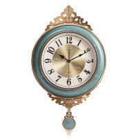 【家装节 夏季狂欢】轻奢挂钟客厅家用时尚石英钟表欧式创意静音时钟美式陶瓷大气挂表 20英寸以上