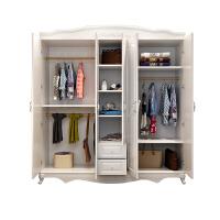 欧式衣柜简约现代经济型组装组合木质板式白色四五门柜子衣橱家具