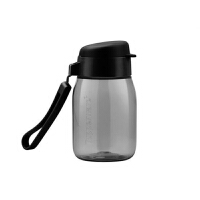 特百惠新品 嘟嘟企鹅杯350ML随手杯便携防漏迷你学生儿童塑料水杯黑色