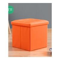 方形单人凳 皮革收纳凳子55升玩具收纳箱 换鞋凳储物凳小沙发