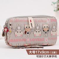 新款装手机的小包零钱包女手拿包钱包小手包钥匙包手机包6寸大屏手拎 白色 米色猫咪(大)