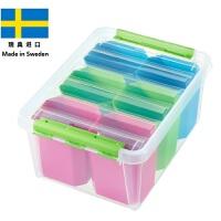 【当当海外购】瑞典进口SmartStore收纳系列母婴用品儿童玩具内衣首饰盒整理箱食品收纳箱-25L (附赠6个彩色收