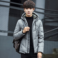 冬装男士羽绒服青年休闲连帽男短款羽绒服潮韩版保暖外套