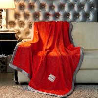 君别双层毛毯被子加厚保暖冬季毯子法兰绒珊瑚绒单人床单