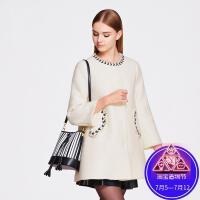 OSA欧莎冬季女装长袖毛呢外套女士呢子大衣SD525005