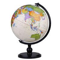 博目地球仪:25cm中英文政区仿古AR功能地球仪(炫影黑架)