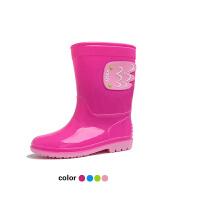 儿童雨靴韩版天使翅膀男童雨鞋女童防滑中小童鞋水鞋宝宝水靴套鞋