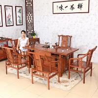 包邮简迪红木家具茶桌椅组合花梨木功夫茶几整装中式仿古茶台实木泡茶桌子